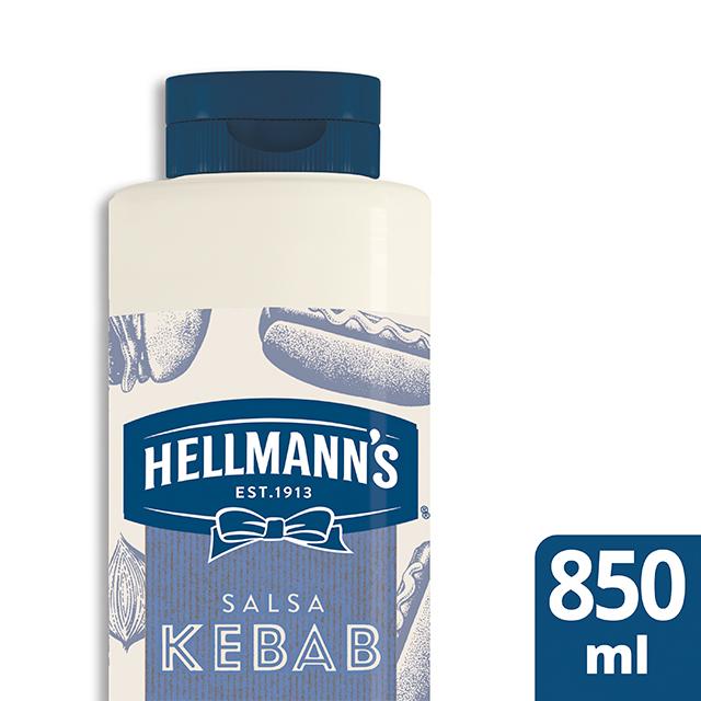 Salsa Kebab Hellmann's botella 850ML Sin Gluten - Salsas Especiales Hellmann's. Nuevos sabores en un práctico envase