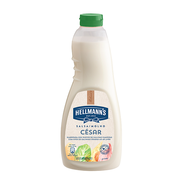 Salsa para ensalada Hellmann's César botella 1L