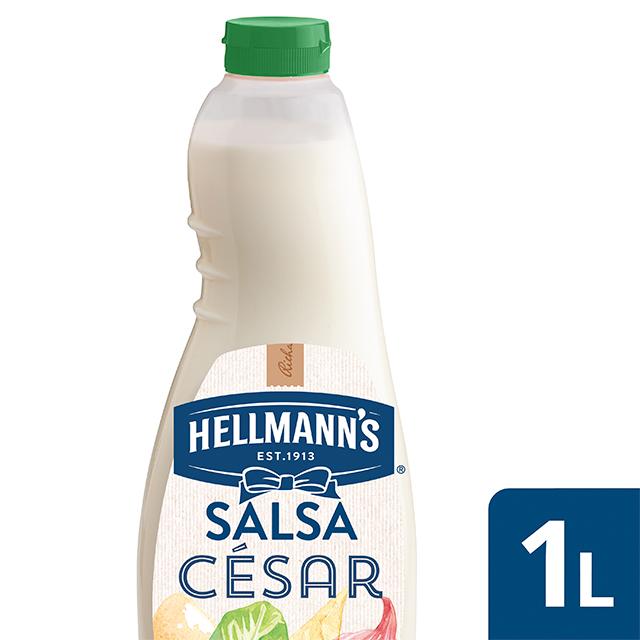 Salsa para ensalada Hellmann's César botella 1L - Salsas para Ensalada Hellmann's, elegidas Nº1 por chefs: el mejor ingrediente para inspirar tu creatividad.
