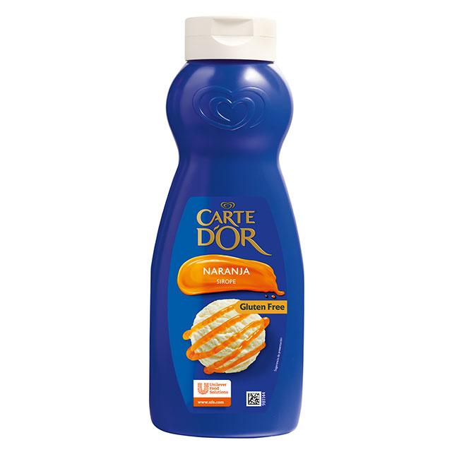 Sirope de naranja Carte d'Or botella 1L Sin Gluten - Sorpréndelos con el toque de frescor y sabor cítrico del nuevo Sirope de Naranja Carte d'Or