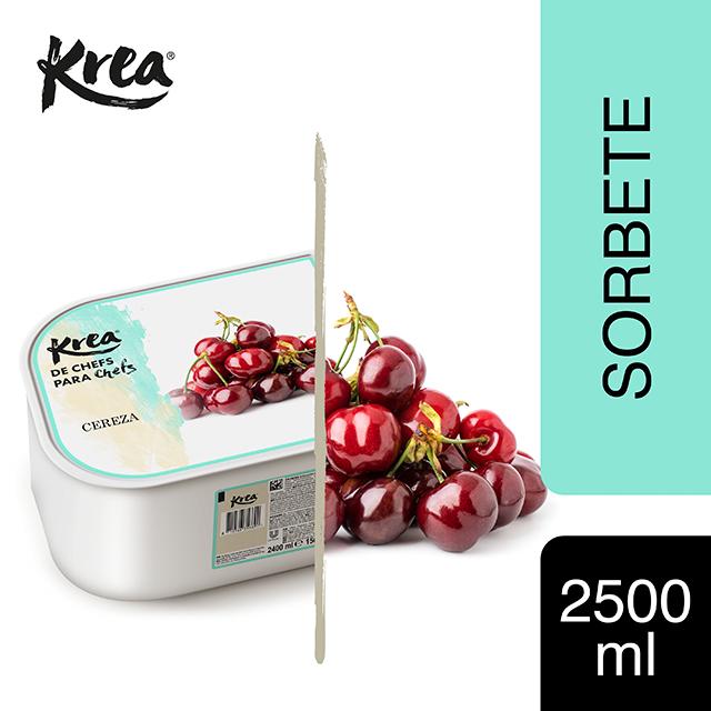 Sorbete de Cereza Krea 2,5L - La gama de Helados KREA, exclusiva de Restauración, te ofrece sabores sorprendentes para crear platos originales.