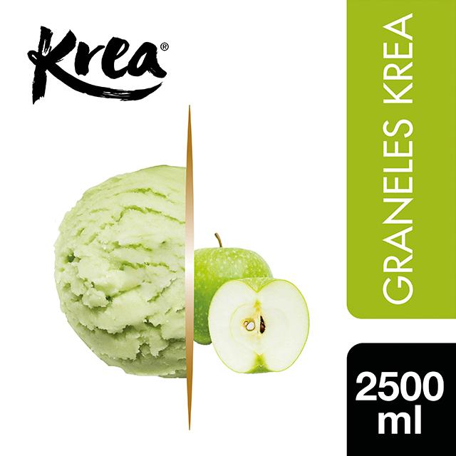 Sorbete de Manzana Verde Krea 2,5L - La gama de Helados KREA, exclusiva de Restauración, te ofrece sabores sorprendentes para crear platos originales.