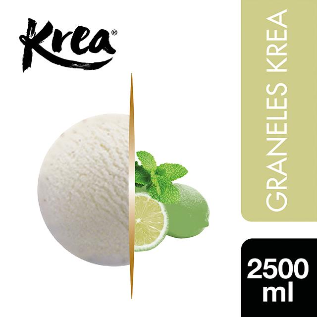 Sorbete de Mojito Krea 2,5L - La gama de Helados KREA, exclusiva de Restauración, te ofrece sabores sorprendentes para crear platos originales.