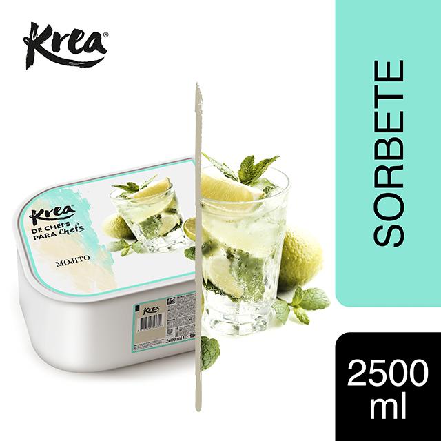 Sorbete de Mojito Krea 2,5L - La gama de Helados KREA, exclusiva de Restauración, te ofrece sabores sorprendentes para crear platos originales