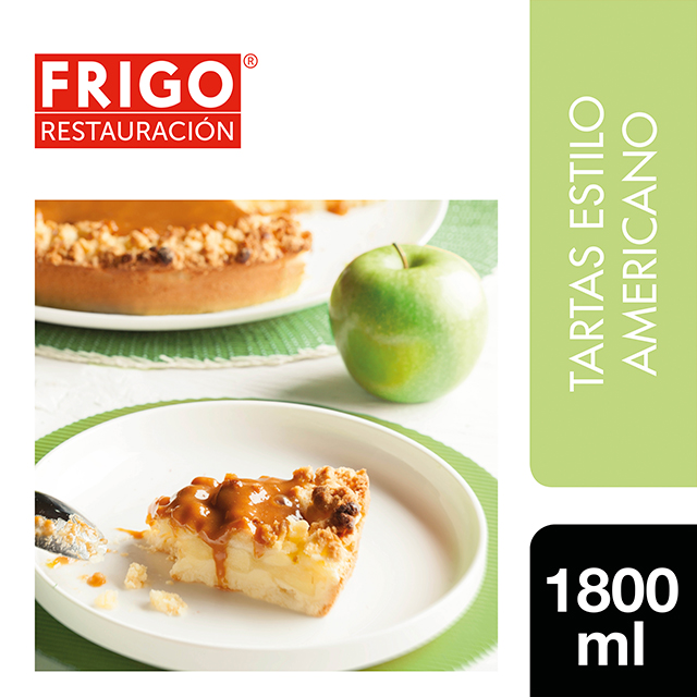 Tarta de Manzana con Caramelo Frigo Restauración 1,8Kg - Las tartas y bizcochos de Frigo Restauración están preparadas tal y como tú las harías