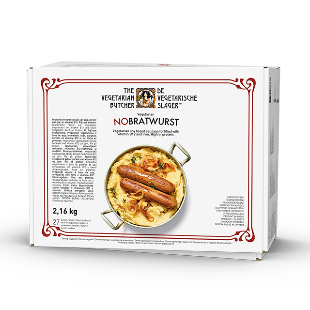 The Vegetarian Butcher NoBratwurst caja 27 x 80gr