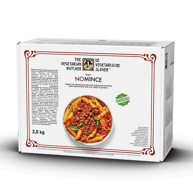 """The Vegetarian Butcher NoCarne Picada caja 2kg - The Vegetarian Butcher """"Tan jugoso como el pollo, más tierno que el cerdo y 100% vegetariano"""" Jaap Korteweg, fundador de The Vegetarian Butcher"""