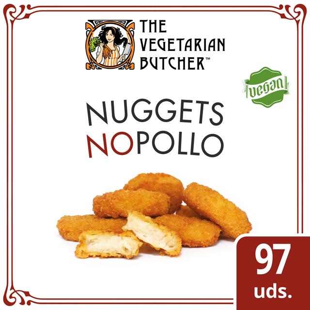 """The Vegetarian Butcher Nuggets Nopollo caja 1,75kg - The Vegetarian Butcher """"Tan jugoso como el pollo, más tierno que el cerdo y 100% vegetariano"""" Jaap Korteweg, fundador de The Vegetarian Butcher"""