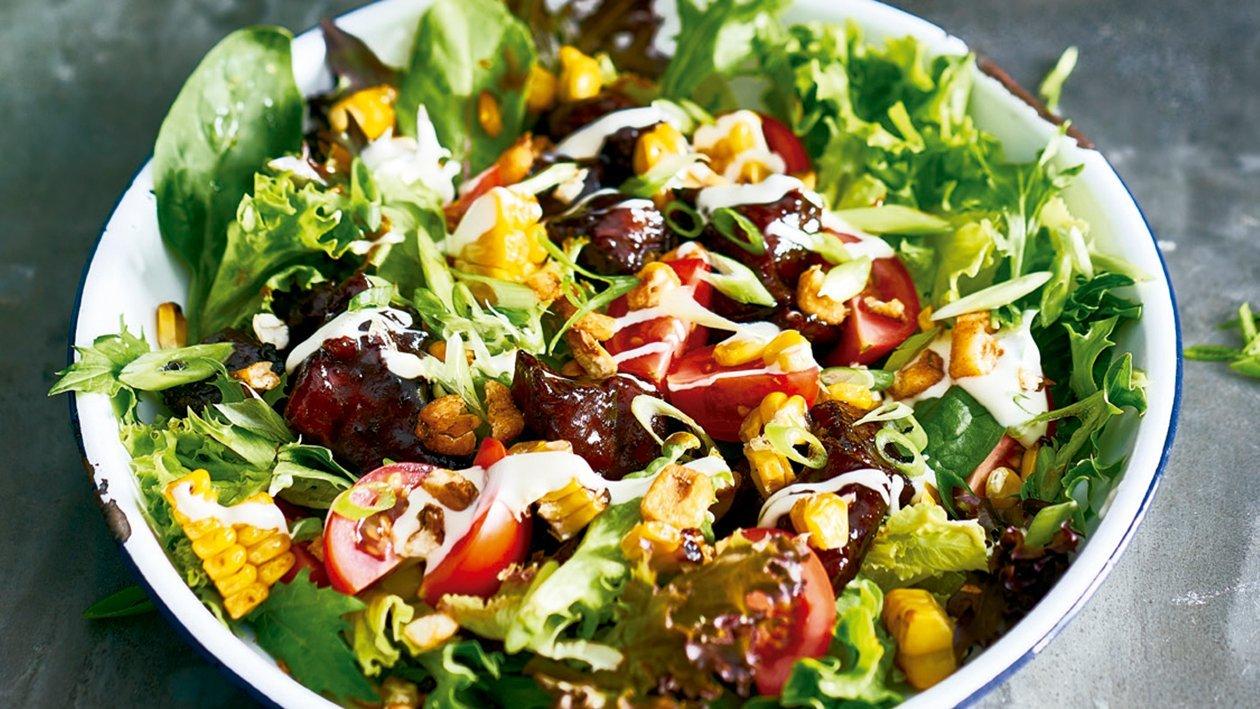 American BBQ beef salad