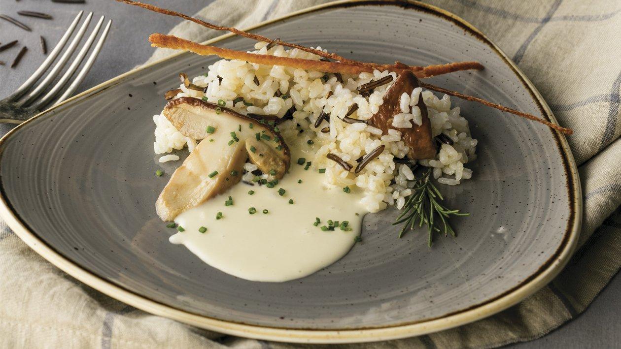 Arroces salteados y queso de cabra sin gluten