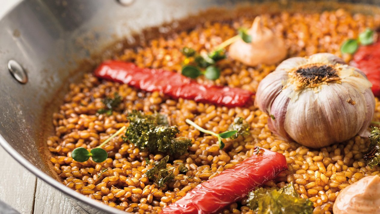 Arroz paella de verduras