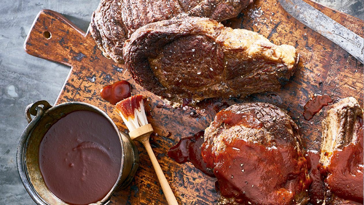 Beer and BBQ sauce