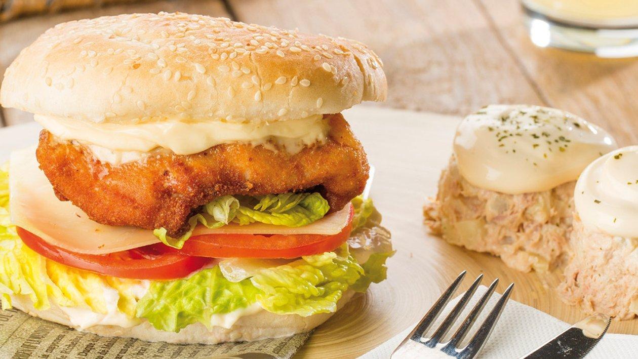 Chicken Hellmann's Burger