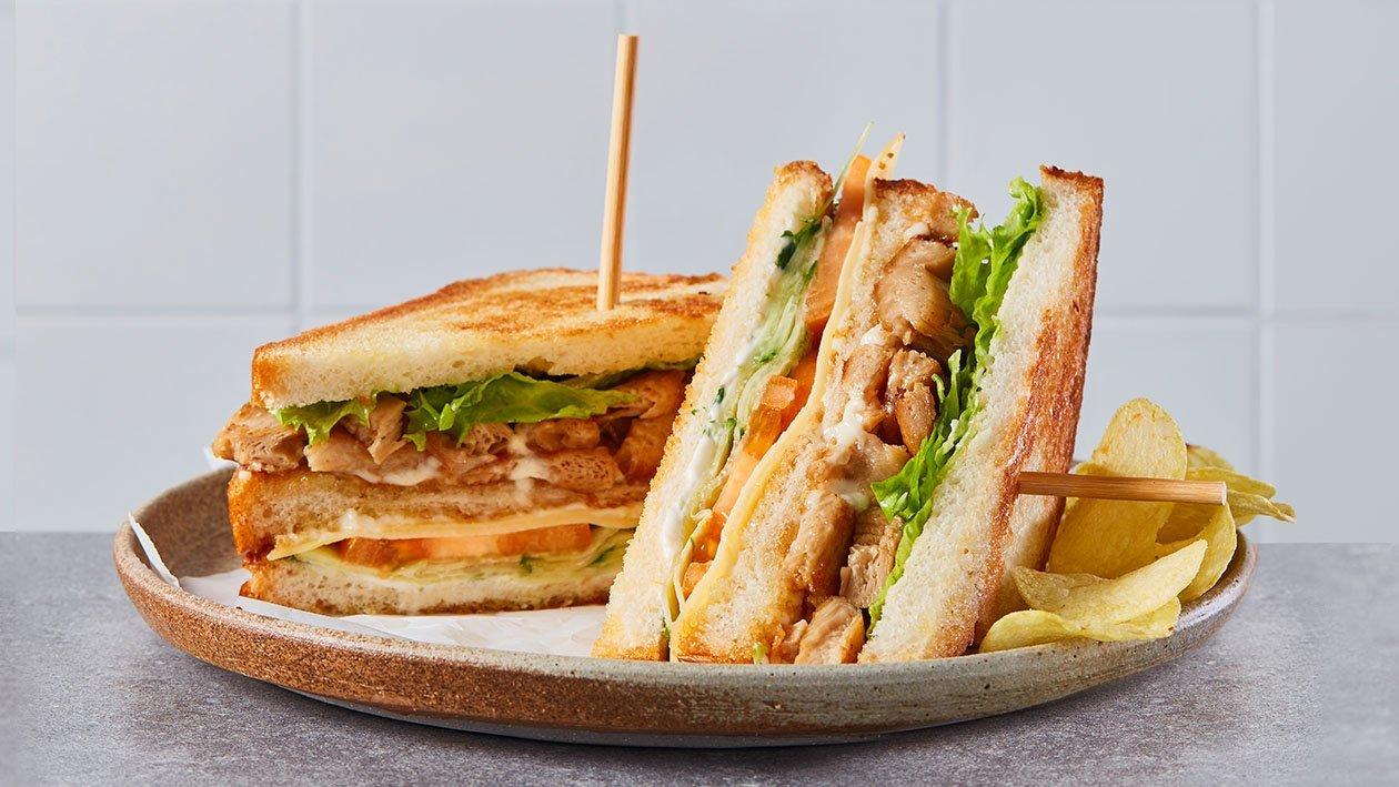 Club sándwich con NoPollo
