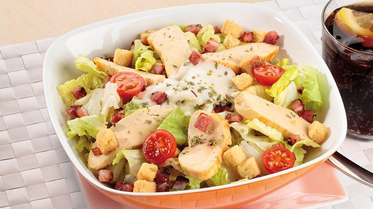 Ensalada césar (sin anchoa ni parmesano)