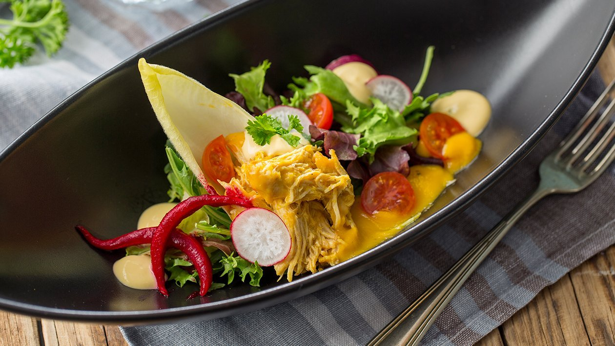 Ensalada de pollo escabechado sin gluten