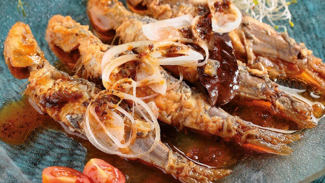 Escabeche italiano de sardinas con cebolleta