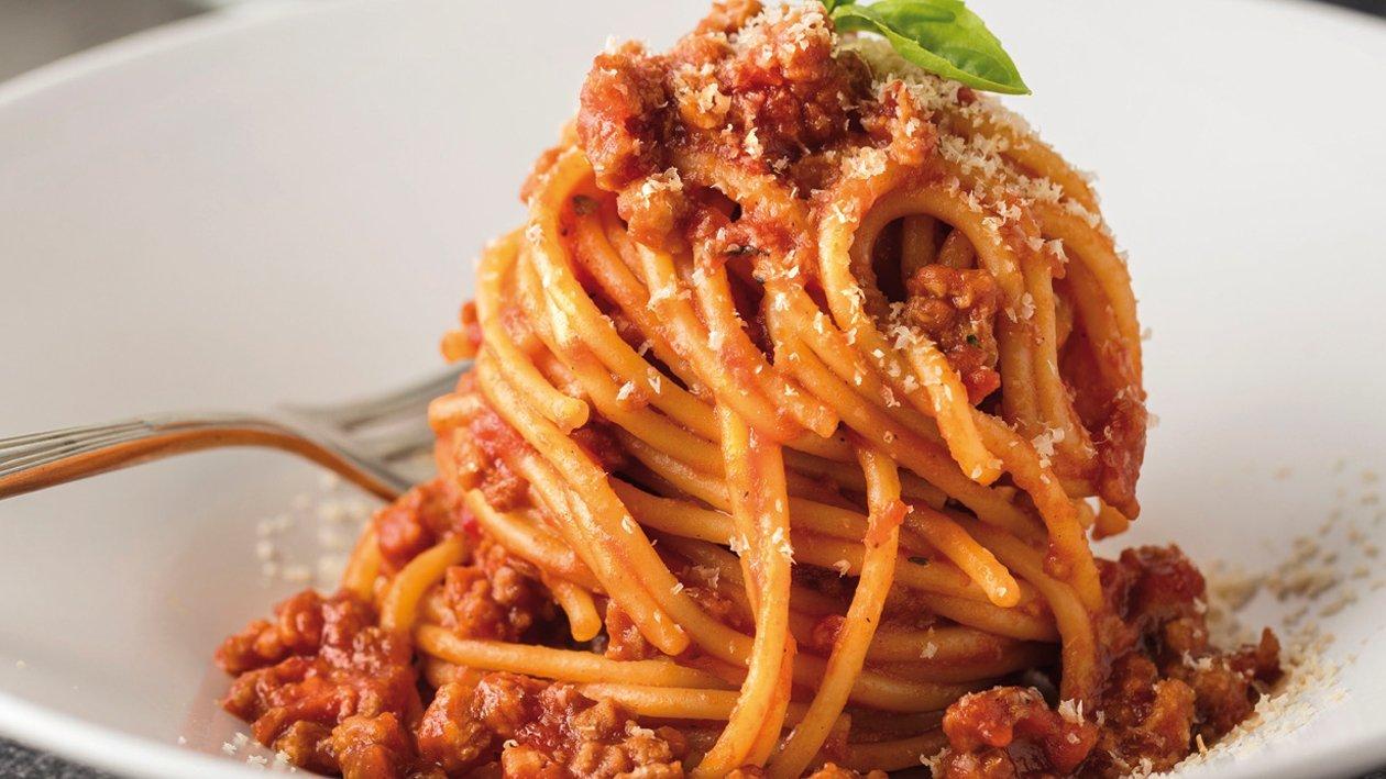 Espaguetis a la boloñesa de NoCarne picada