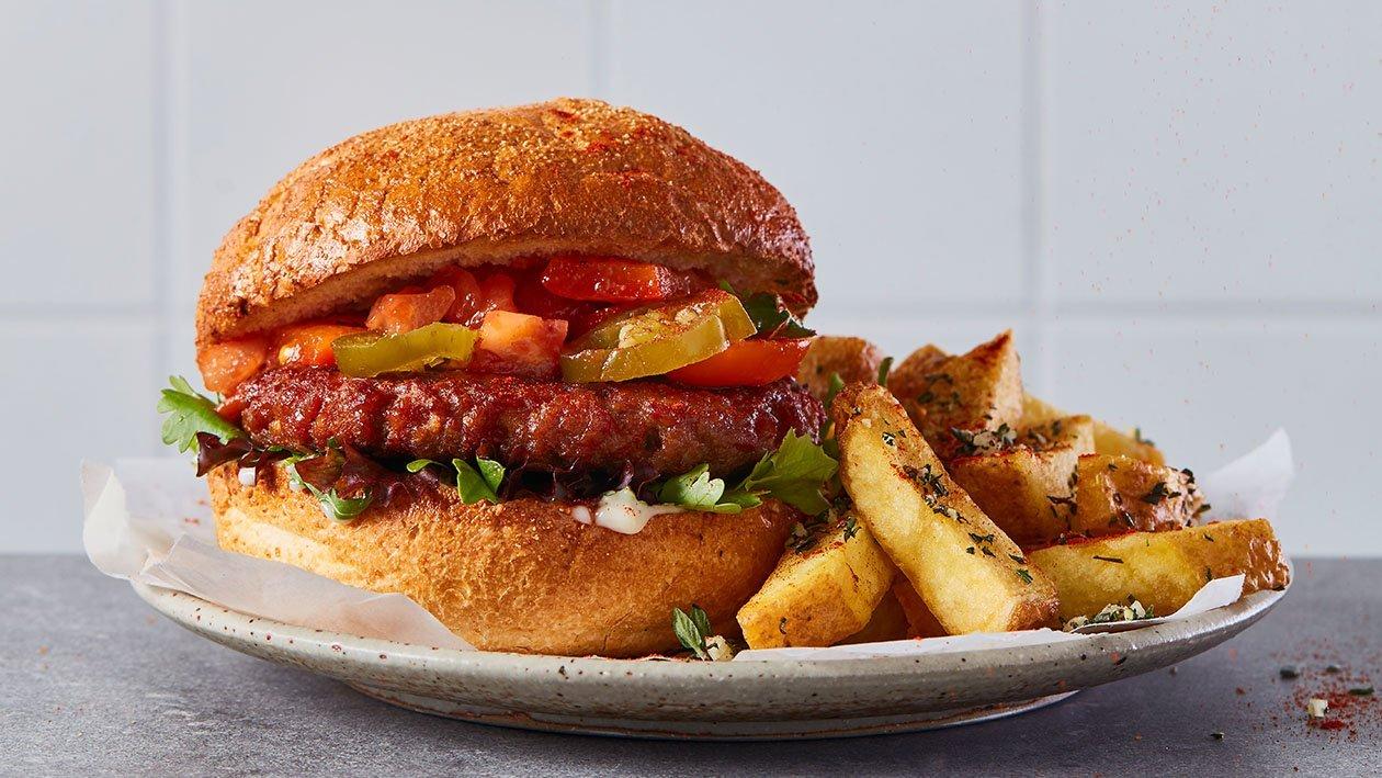Hamburguesa de NoTernera picante
