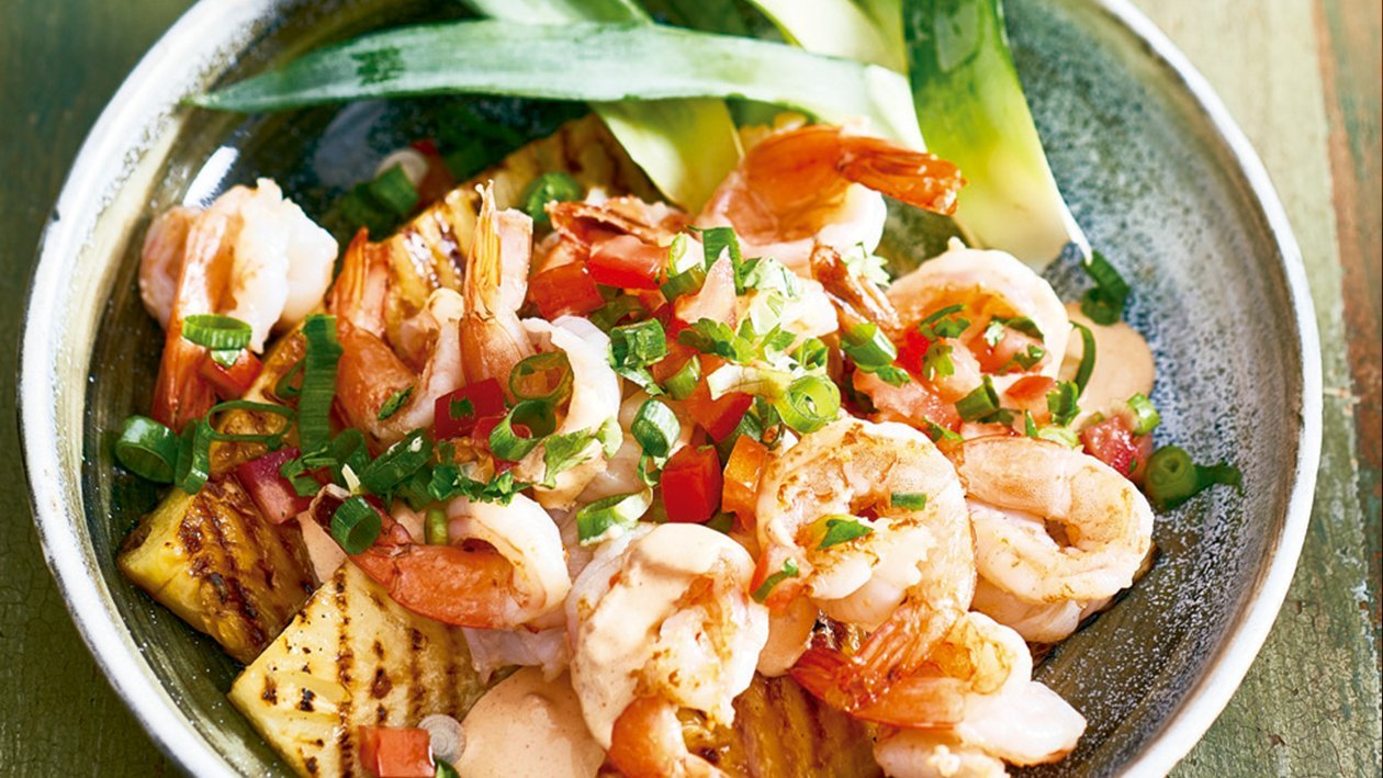 Hawaiian shrimp salad