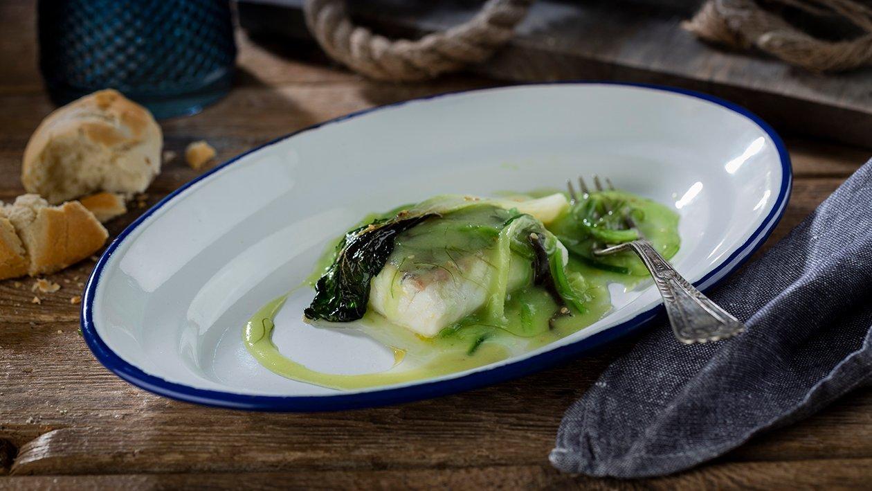 Merluza en salsa verde marina