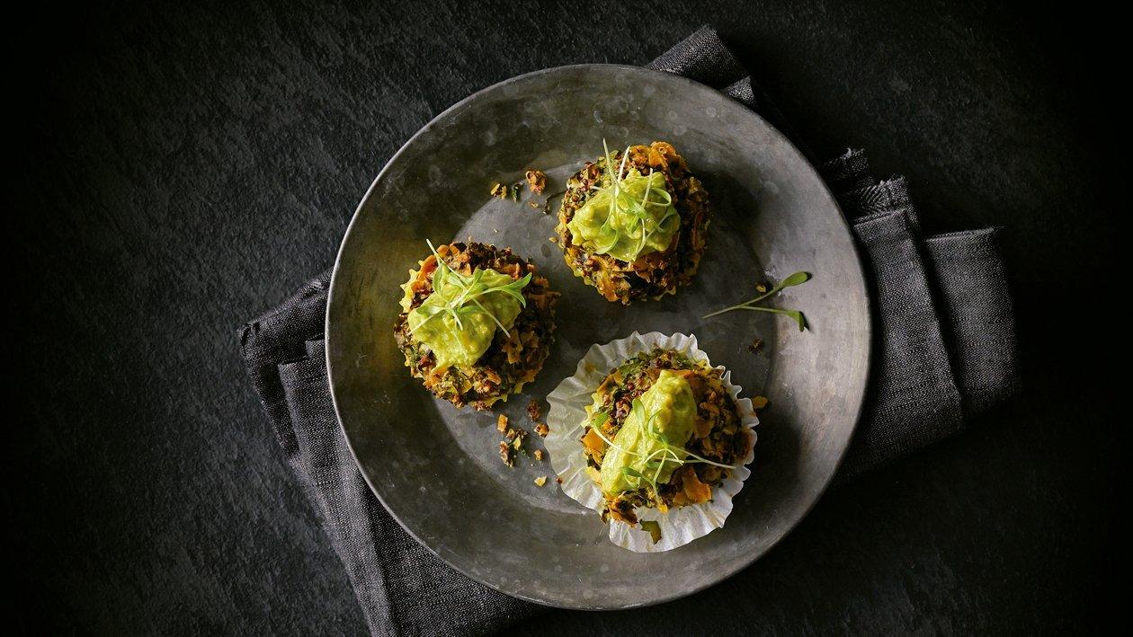 Minibocados de kale y quinoa