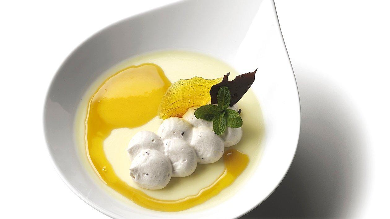 Panna Cotta de mango y mousse de nata