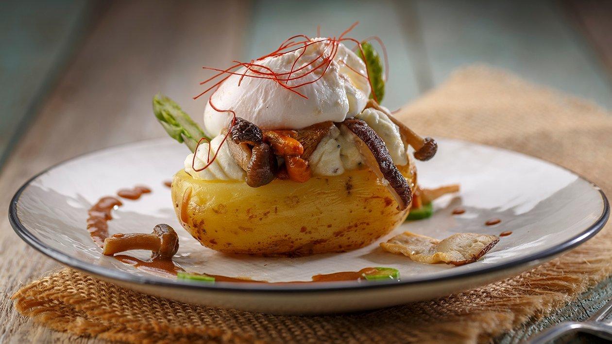 Patata rellena de trufa