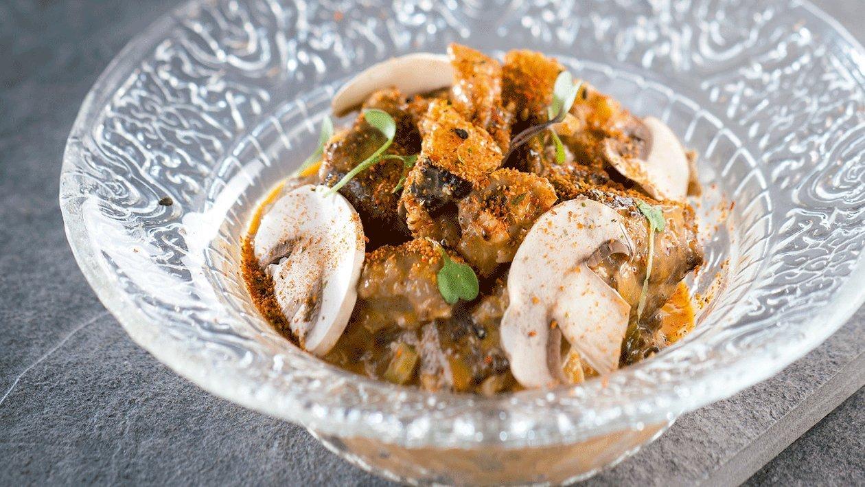 Strogonof de cerdo ibérico especiado con leche de coco y curry rojo