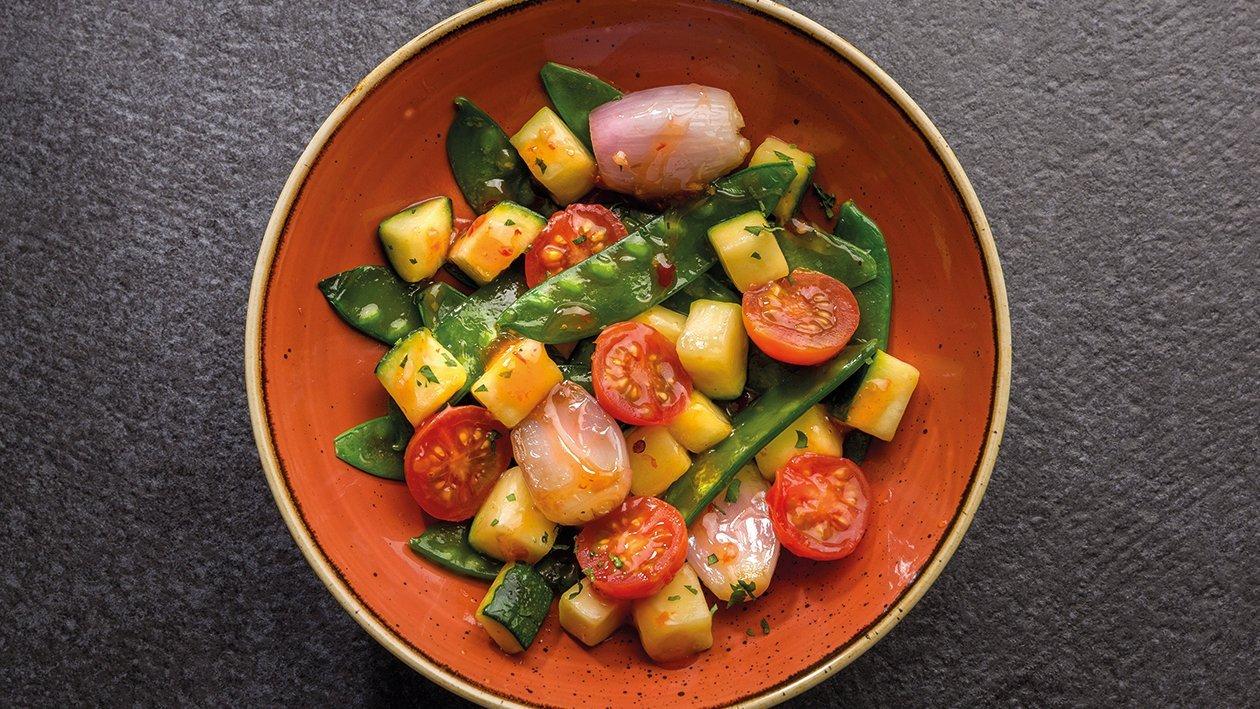 Verduras salteadas mediterráneas