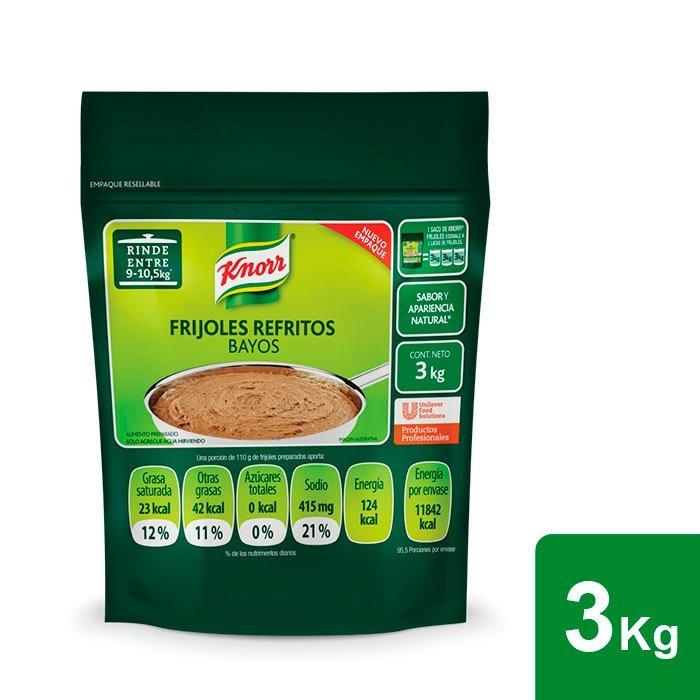 Knorr® Frijoles Refritos Bayos 3 kg - Knorr® Frijoles Refritos Bayos 3kg,  el mejor Frijol bayo deshidratado