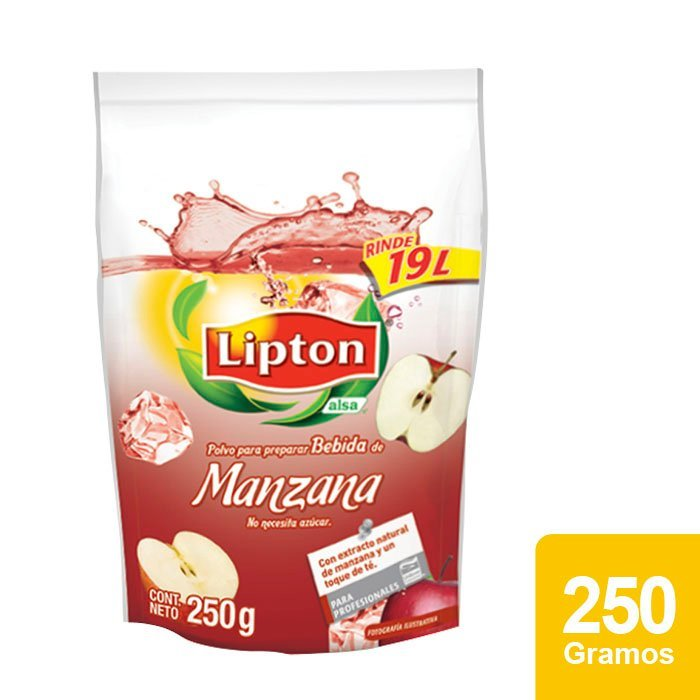Lipton® Polvo para preparar Bebida sabor Manzana 250 g -