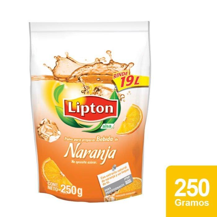 Lipton® Polvo para preparar Bebida sabor Naranja 250 g -