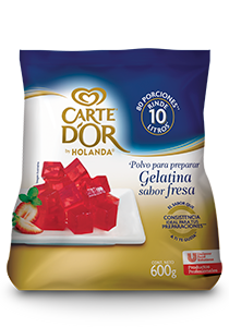 Carte D'Or® Gelatina de Fresa 600 g - Ofrece gran sabor, variedad y el mejor rendimiento para tu negocio con Gelatinas Carte D'Or®.