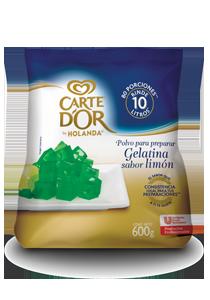 Carte D'Or® Gelatina de Limón 600 g - Ofrece gran sabor, variedad y el mejor rendimiento para tu negocio con Gelatinas Carte D'Or®.
