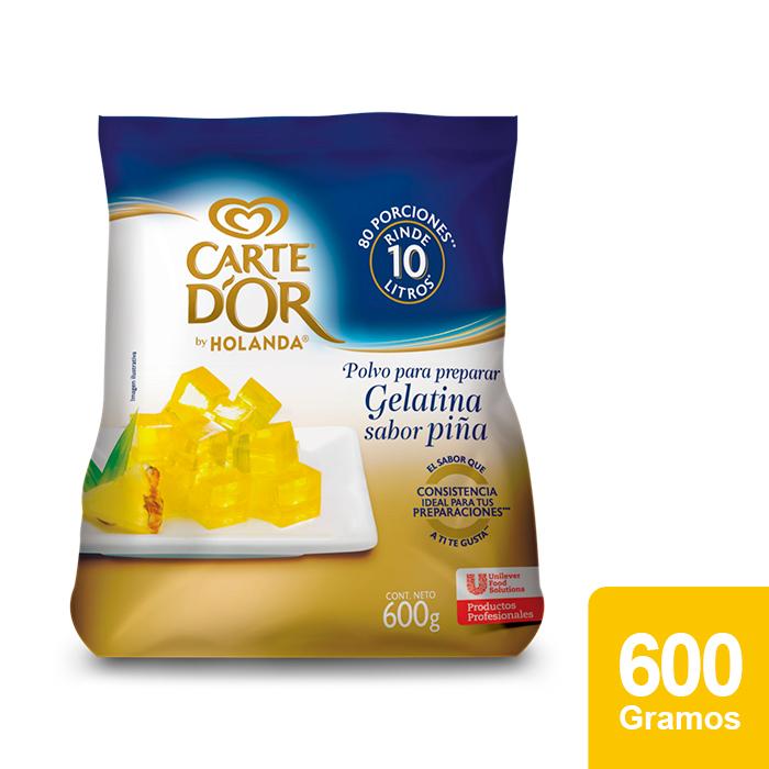 Carte D'Or® Gelatina de Piña 600 g - Ofrece gran sabor, variedad y el mejor rendimiento para tu negocio con Gelatinas Carte D'Or®.