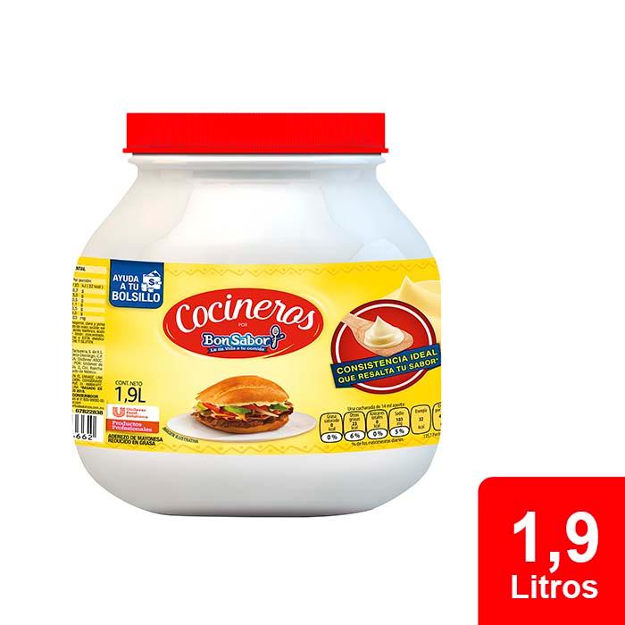 Cocineros Bon Sabor® Aderezo de Mayonesa 1.9 L - El Aderezo de Mayonesa Cocineros por Iberia® tiene un gran sabor y no remoja el pan.