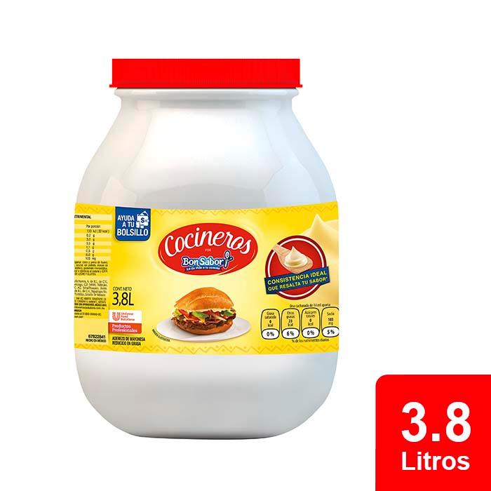 Cocineros Bon Sabor® Aderezo de Mayonesa 3.8 L - Aderezo de Mayonesa Cocineros por Iberia® tiene un gran sabor y no remoja el pan.