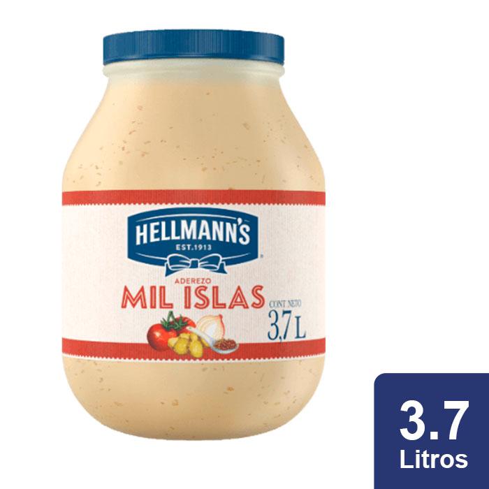 Hellmann's® Aderezo Mil Islas 3.7 L - Aderezos Cremosos Hellmanns, un nuevo toque de sabor para tus platillos