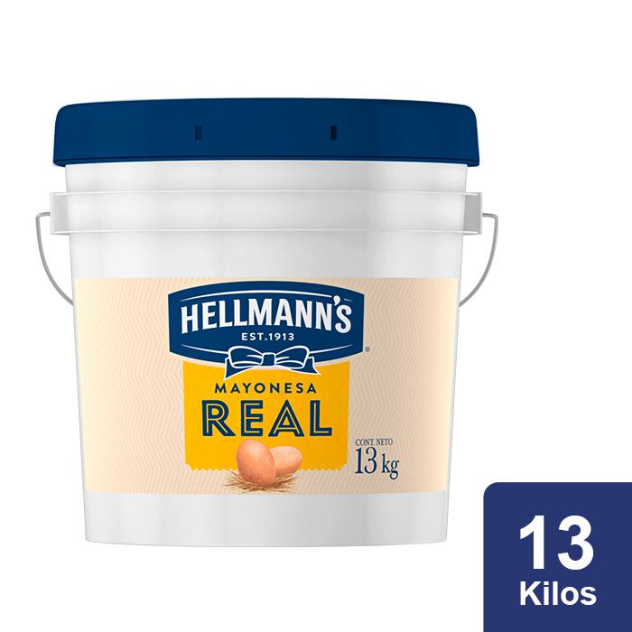Hellmann's® Mayonesa Real 13 Kg - Hellmann's® Real te ayuda a enamorar a tus clientes al primer bocado.