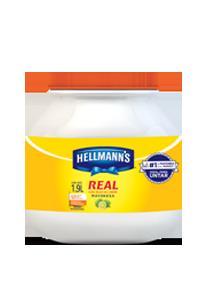 Hellmann´s® Mayonesa Real 1.9 L - Hellmann's® Real te ayuda a enamorar a tus clientes al primer bocado.