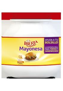 Iberia® Mayonesa 1.9 L - Mayonesa Iberia® tiene un gran sabor y no remoja el pan.