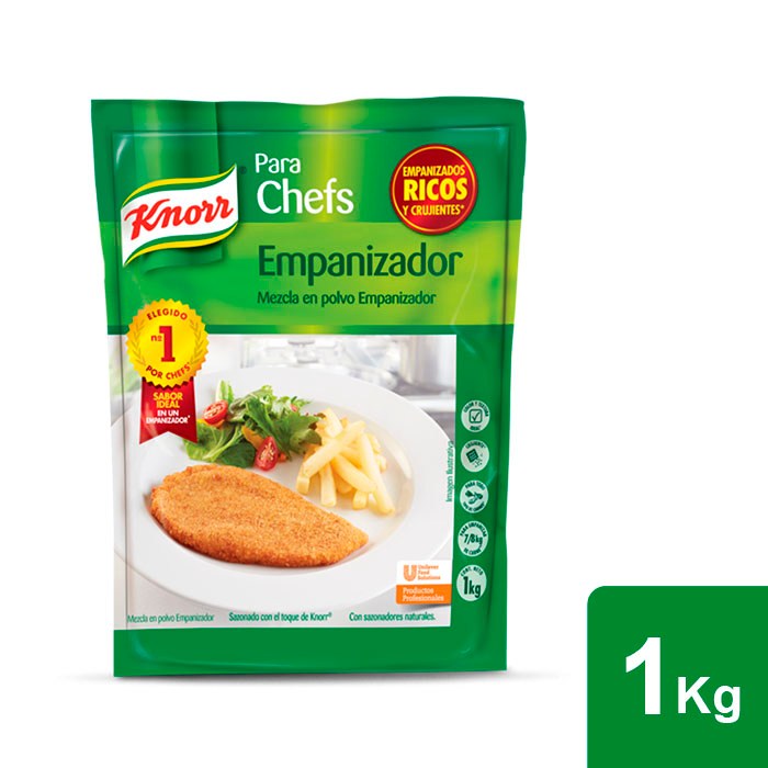 Knorr® Empanizador 1 kg - Knorr Empanizador ofrece el mejor sabor, color y texctura para tus platillos empanizados