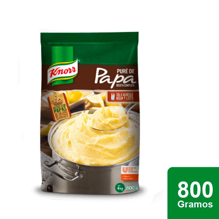 Knorr® Puré de Papa 800 g - Knorr Puré de papa, es una receta completa con un toque de sabor a mantequilla y leche; solo es necesario añadir agua