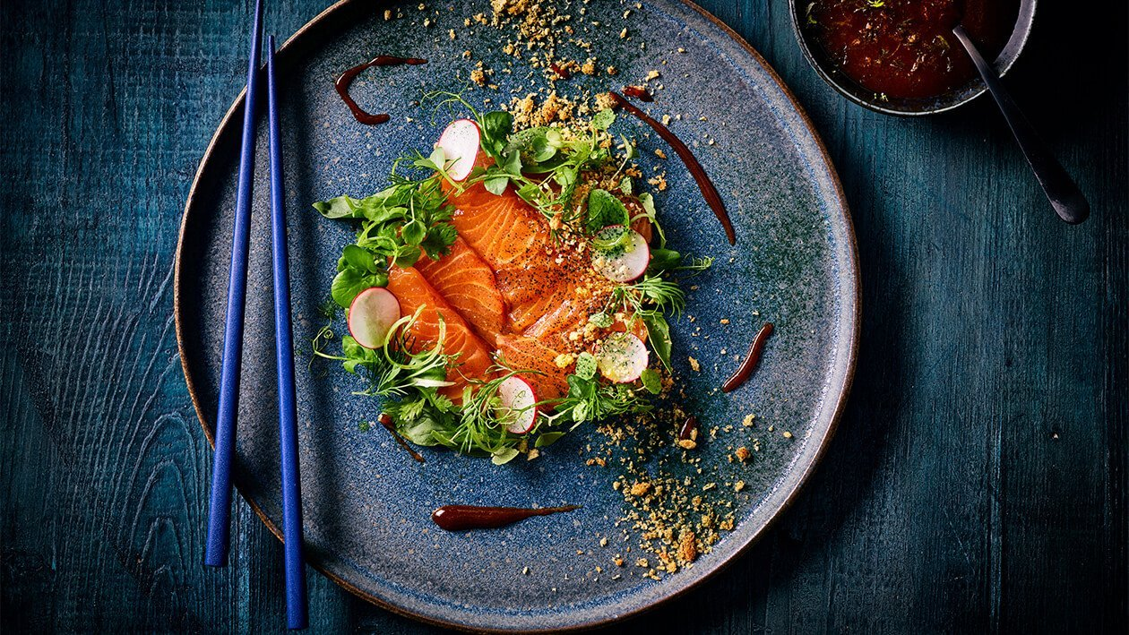 Hoisin Salmon Carpaccio
