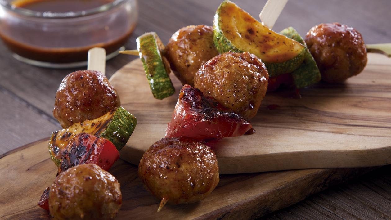 Kebab Brocheta en Salsa Agridulce