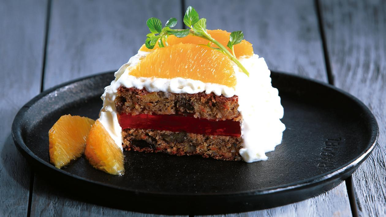 Pastel de Zanahoria con Naranja