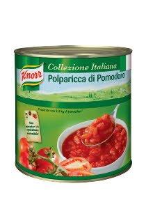 Knorr Tükeldatud ja kooritud tomatid mahlas 2,55 kg -