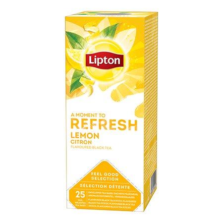 Lipton Maitsestatud must tee sidrunikoortega -