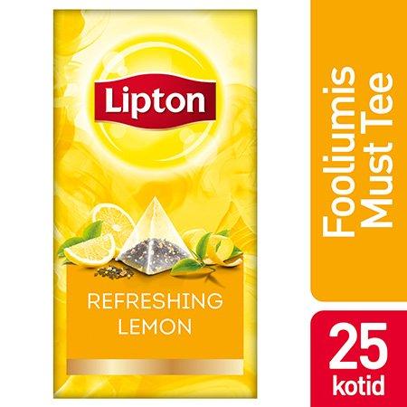 Lipton Maitsestatud must tee sidrunikoortega